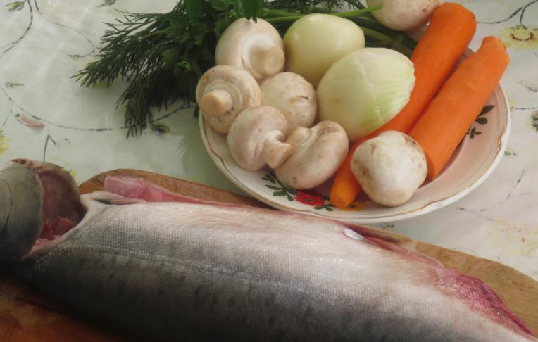 Фаршированная горбуша с грибами в духовке рецепт 30